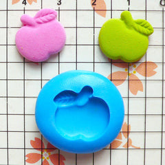 Apple (15mm) Flexible Mold Silicone Mold - Miniature Food, Sweets, Jewelry, Charms (Clay Fimo Resin Gum Paste Fondant Sculpey Wax) MD384