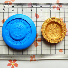 Dollhouse Mold Round Plate Mold 26mm Flexible Silicone Mold Miniature Deco Polymer Clay Fimo DIY Kawaii Cabochon Charms Push Mold MD555