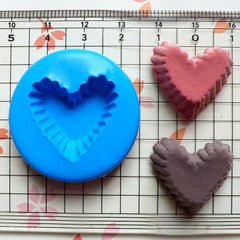 Heart Cupcake Mold Tart Bottom 23mm Silicone Flexible Mold Dollhouse Miniature Sweets Jewelry Charms Kawaii Cabochon Polymer Clay Fimo MD119