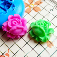 Flower / Rose (16mm) Silicone Flexible Push Mold - Miniature Food, Sweets, Jewelry, Charms (Clay Fimo Resin Soap Gum Paste Fondant) MD566