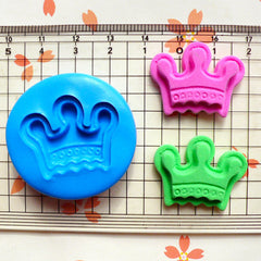 Crown (27mm) Silicone Flexible Push Mold - Miniature Food, Sweets, Jewelry, Charms (Clay, Fimo, Resin Casting, Fondant, GumPaste, Wax) MD532