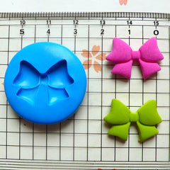 Ribbon / Bow (22mm) Silicone Flexible Push Mold - Miniature Food, Sweets, Jewelry, Charms (Clay, Fimo, Resin, Wax, Gum Paste, Fondant) MD763