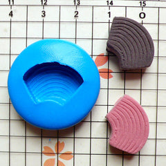Baumkuchen (18mm) Silicone Flexible Push Mold - Miniature Food, Sweets, Cupcake, Jewelry, Charms (Clay Fimo Wax Casting Resin Fondant) MD231