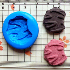 Flexible Mold Silicone Mold Bitten Cookie Biscuit (23mm) Miniature Food, Sweets, Jewelry, Charms (Clay, Fimo, Sculpey, Resin, Fondant) MD799