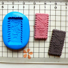 Long Windmill Cookie / Biscuit Mold (25mm) Silicone Flexible Push Mold - Miniature Food, Cupcake, Jewelry, Charms (Clay, Fimo) MD162