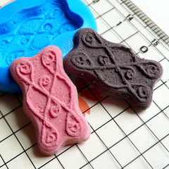 Long Butter Cookie / Biscuit Mold (23mm) Silicone Flexible Push Mold - Miniature Food, Cupcake, Jewelry, Charms (Clay, Fimo, Fondant) MD159