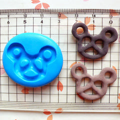 Pretzel Mold 27mm Flexible Mold Silicone Mold Miniature Sweets Mold Kawaii Cell Phone Deco Mold Fimo Polymer Clay Resin Mold MD378