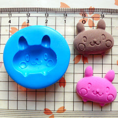 Bunny / Rabbit (22mm) Silicone Flexible Push Mold - Miniature Food, Sweets, Jewelry, Charms (Clay Fimo Resin Wax Gum Paste Fondant) MD438