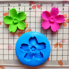 Sakura Mold 20mm Silicone Flexible Mold Fondant Gumpaste Mold Cupcake Topper Cake Deco Fimo Polymer Clay Mold Jewelry Flower Cabochon MD575