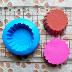 Cupcake Mold Tart Bottom 27mm Silicone Flexible Mold Kawaii Miniature Sweets Mold Polymer Clay Food Jewelry Charms Cabochon Wax Resin MD122