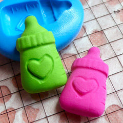 Silicone Mold Flexible Mold Baby Bottle Mold 22mm Scrapbooking DIY Kawaii Jewelry Charms Polymer Clay Fondant Gumpaste Cupcake Topper MD544