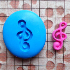 Music Mold G Clef Treble Clef Music Note 18mm Silicone Flexible Mold Scrapbooking Jewelry Cabochon Earrings Mold Fimo Mold Clay Mold MD810