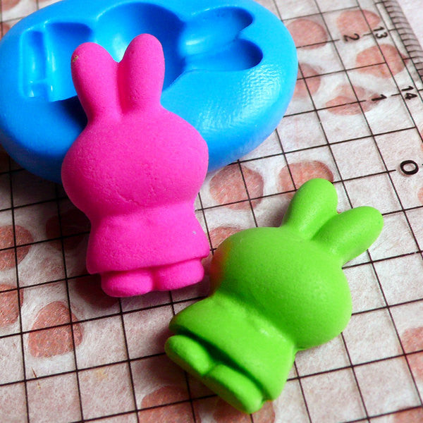 Rabbit Mold Bunny Mold 25mm Flexible Silicone Mold Chocolate Fondant Gumpaste Animal Cupcake Topper Scrapbooking Resin Polymer Clay MD444