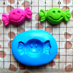 Smiley Candy Mold Bow Tie Candy 23mm Flexible Silicone Mold Kawaii Sweets Deco Fimo Polymer Clay DIY Jewelry Cabochon Charms Gumpaste MD697