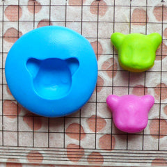 Animal Mold Panda Mold 15mm Flexible Silicone Mold Polymer Clay Fimo Charms Resin Wax Cupcake Topper Fondant Gumpaste Chocolate Mold MD426