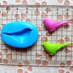 Bird Mold 28mm Flexible Silicone Mold Mini Cupcake Topper Mold Fondant Gumpaste Fimo Clay Wax Resin Animal Jewelry Scrapbooking Mold MD721