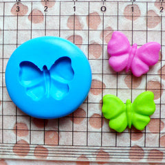 Butterfly Silicone Mold 19mm Flexible Mold Cupcake Topper Mold Fondant Gumpaste Chocolate DIY Jewelry Cabochon Fimo Polymer Clay Resin MD408