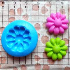 Flower Mold 19mm Flexible Silicone Mold Jewelry Earrings Mold Mini Cupcake Topper Fondant Gumpaste Flower Cabochon Mold Polymer Clay MD578