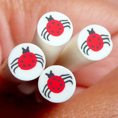 Spider Polymer Clay Cane Kawaii Fimo Cane Halloween Cane Nail Art Deco Nail Decoration Scrapbooking CE024