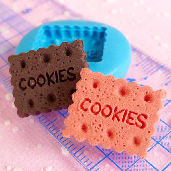 Rectangular Cookie Mold Biscuit Mold 18mm Flexible Silicone Mold Miniature Sweets Fimo Mold Polymer Clay Wax Kitsch Jewelry Cabochon MD130