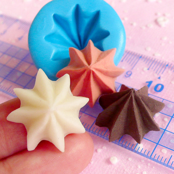 Whipped Cream Mold Frosting 22mm Silicone Flexible Mold Miniature Sweets Cupcake Fimo Polymer Clay Decoden Kawaii Jewelry Wax Mold MD275