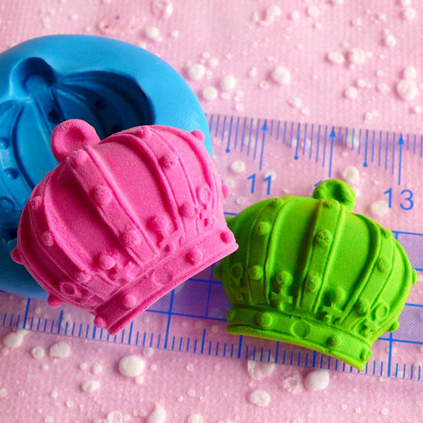 Crown Mold 28mm Flexible Silicone Mold Cupcake Topper Mold DIY Jewelry Mold Pendant Ring Fondant Gumpaste Resin Wax Fimo Polymer Clay MD533