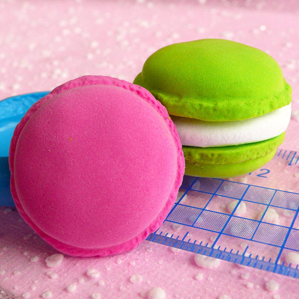 Macaron Mold 31mm Flexible Silicone Mold Kawaii Cell Phone Deco Sweets Mold Resin Wax Fimo Polymer Clay Jewelry Charms DIY Cabochon MD256