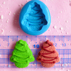 Christmas Tree Biscuit Mold 30mm Flexible Silicone Mold Cell Phone Deco Fimo Polymer Clay Fondant Gumpaste Cupcake Topper Mold Wax MD758