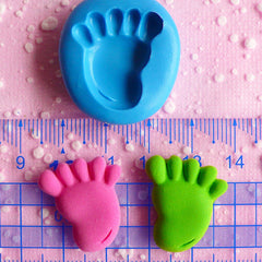 Baby Foot Flexible Silicone Mold 23mm Kawaii Baby Shower Mini Cupcake Topper Mold Fimo Polymer Clay Fondant Gumpaste Scrapbooking Mold MD541