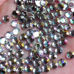 4mm Round Acrylic Rhinestones | Bling Bling Decoration | Kawaii Decoden Supplies (AB Clear / Around 1000 pcs)