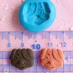Dog Biscuit Mold Animal Cookie Mold 19mm Flexible Silicone Mold Miniature Sweets Kawaii Cellphone Deco Polymer Clay Fimo Push Mold MD166
