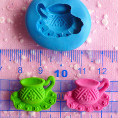 Tea Cup Mold Flexible Silicone Mold 22mm Dollhouse Miniature Kawaii Deco Fimo Polymer Clay Mold Scrapbooking Mold Gumpaste Wax Resin MD554