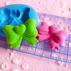 Ribbon Mold w/ Heart 21mm Flexible Silicone Mold Mini Cupcake Topper Mold Fondant Gumpaste Resin Fimo Polymer Clay Mold Scrapbooking MD718