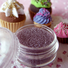 Tiny Glass Micro Beads Dollhouse Sugar Sprinkles No Hole Beads Fake Toppings (Lavender / 7g) Scrapbook Embellishment Caviar Manicure SPK24