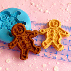 Gingerbread Man Mold 32mm Silicone Flexible Mold Cell Phone Deco Cupcake Topper Kawaii Dollhouse Sweets Jewelry Cabochon Polymer Clay MD269