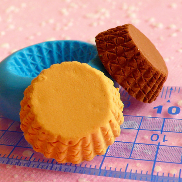 Cupcake Mold Tart Bottom 21mm Silicone Flexible Mold Kawaii Miniature Sweets Decoden DIY Kitsch Jewelry Charms Fimo Resin Dollhouse MD112