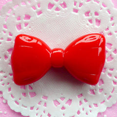Kawaii Bow Cabochon Large Bow Tie Cabochon (53mm x 29mm / Red) Scrapbooking Whimsy Cell Phone Deco Cute Chunky Jewellery Bowtie Decor CAB038
