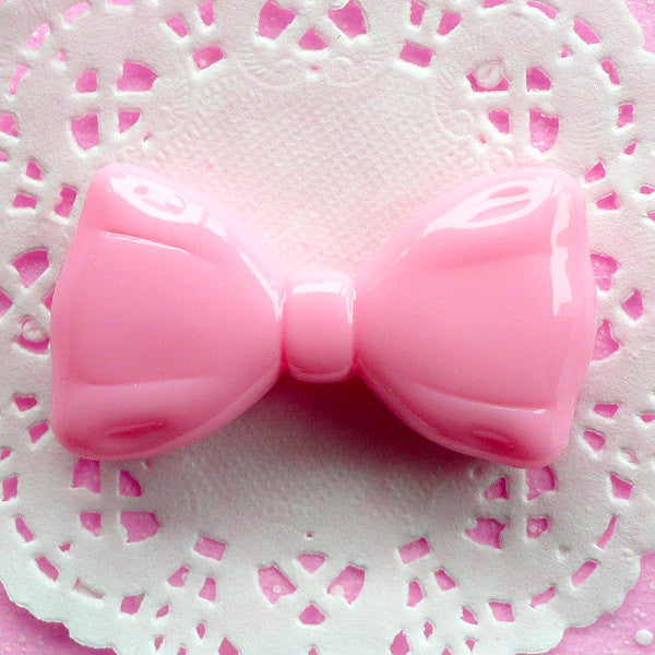 Bow Tie Cabochon Big Bowtie Cabochon (53mm x 29mm / Pink) Kawaii Phone Case Decoration Lolita Cabochon Huge Bow Applique Cute Jewelry CAB037