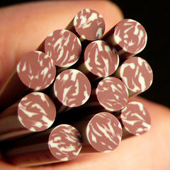 Polymer Clay Cane - Salami / Sausage - for Miniature Food / Dessert / Cake / Ice Cream Decoration and Nail Art CFD01
