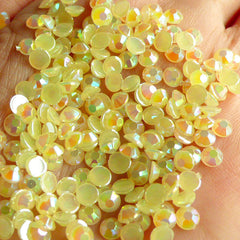5mm Acrylic AB Rhinestones / Round Jelly Rhinestones (Acrylic / Light Yellow) (100pcs) RHAC506