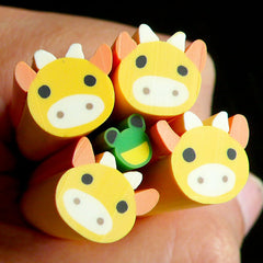 Cow Polymer Clay Cane Kawaii Animal Fimo Cane (LARGE/BIG) Kawaii Deco Scrapbooking BC17