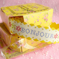 French Style Deco Tape / Paper Sticker Tape by Coffret du Couturier (BONJOUR) (1.5 Meter) Scrapbooking Gift Wrap Wedding Decoration WR07