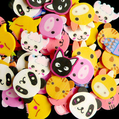 Animal Polymer Clay Cane Slices Mix Assorted Fimo Cane Slices Set (Big / Large) Decoden Kawaii Nail Art Decoration (60 pcs by random) CMX031