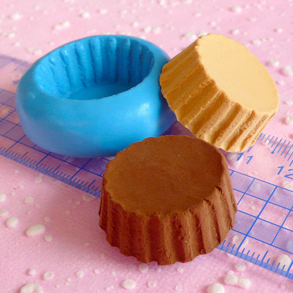 Cupcake Tart Bottom Mold 27mm Silicone Mold Flexible Mold Kawaii Miniature Sweets Fimo Polymer Clay Fake Food Cabochon Charms Resin MD704