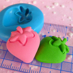 Strawberry Mold 19mm Silicone Mold Flexible Mold Kawaii Deco Sweets Mold Miniature Food Fimo Polymer Clay Earrings DIY Cabochon Mold MD394