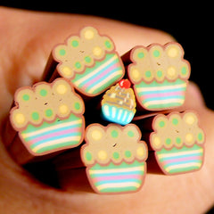 Cupcake Polymer Clay Cane Miniature Sweets Fimo Cane (LARGE/BIG) Kawaii Dollhouse Sweets Cane Earrings Making Scrapbooking Deco BC62