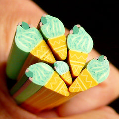 Ice Cream Polymer Clay Cane Miniature Sweets Fimo Cane (LARGE/BIG) Kawaii Dollhouse Sweets Cane Earrings Making Scrapbooking Decoration BC68