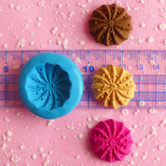 Silicone Mold Flexible Mold Cookie Mold Biscuit Mold w/ Sprinkles 25mm Cell Phone Deco Fimo Polymer Clay Sweets Cabochon Charms Resin MD701