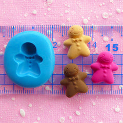 Gingerbread Man Mold 16mm Silicone Mold Flexible Mold Kawaii Kitsch Jewelry Charms Mold Cell Phone Deco Sweets Cabochon Mold Clay Mold MD260