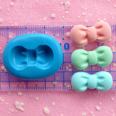 Bow Mold 22mm Kawaii Flexible Silicone Mold Resin Mold Mini Cupcake Topper Mold Fondant Mold Bow Earrings Mold Cell Phone Deco Mold MD475